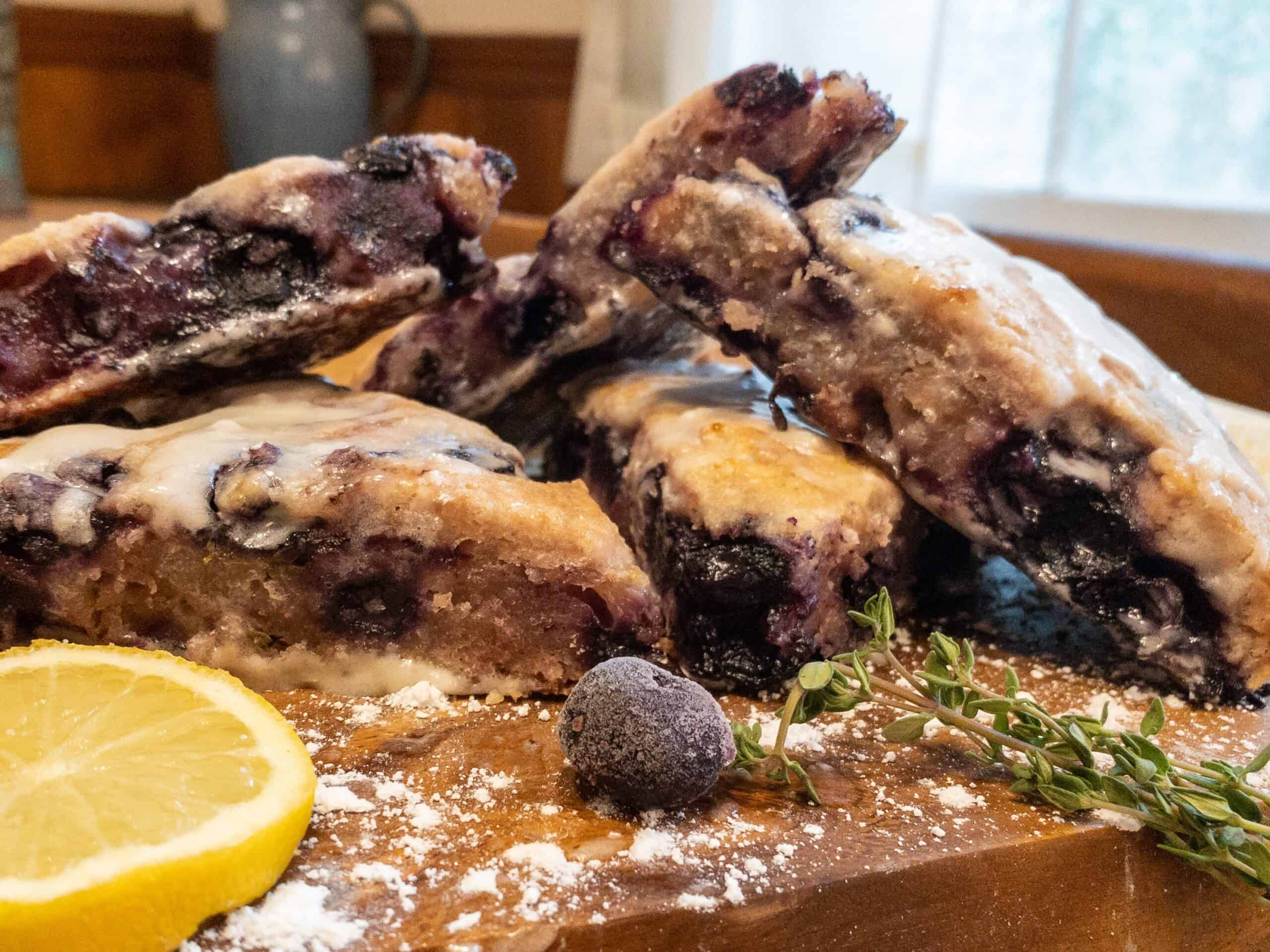 Gluten Free Blueberry Scones with Lemon & Thyme