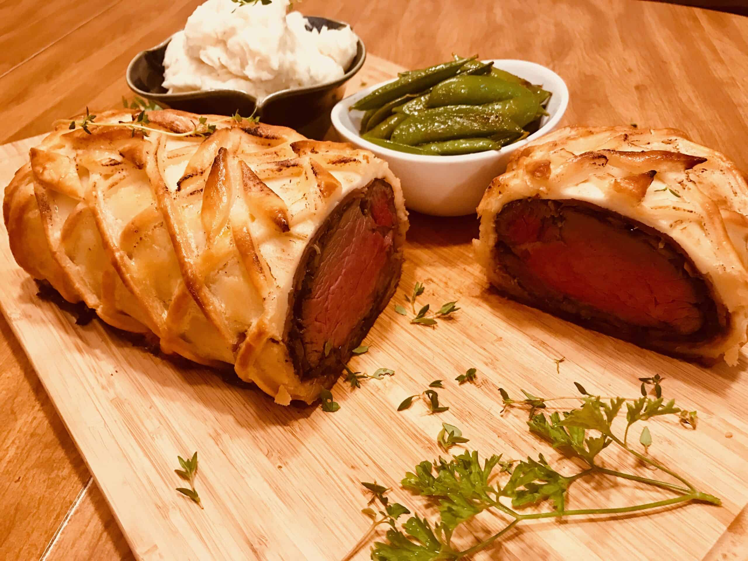 Gluten Free Beef Wellington by Chef Vedam for VeeCulinary